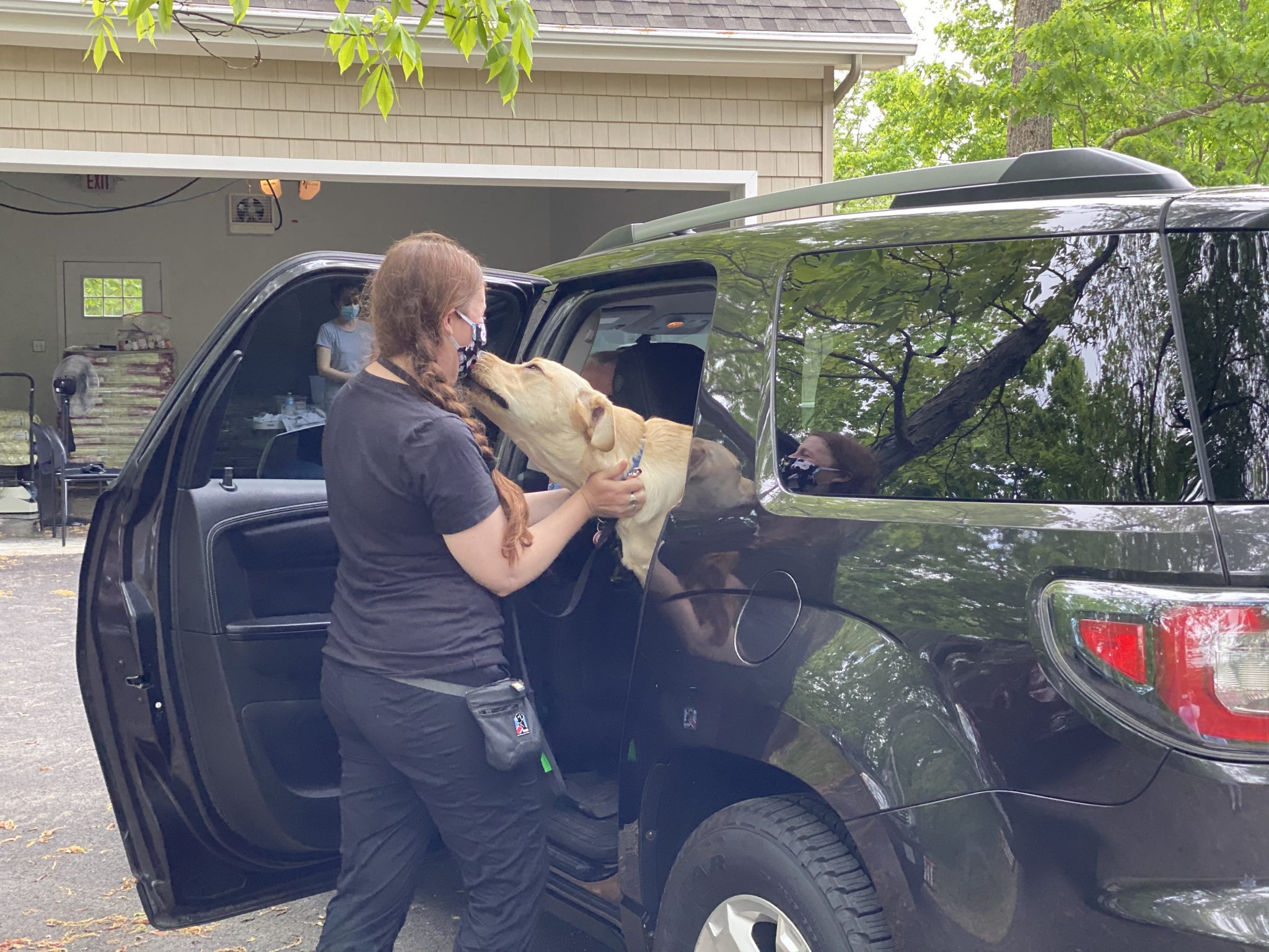 Puppy Raisers brought their dogs to the NEADS campus.