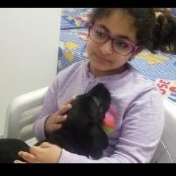 Seravena with dog